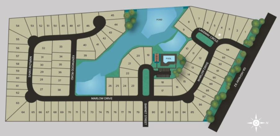 Ashton Woods Claremore Manor Site Plan